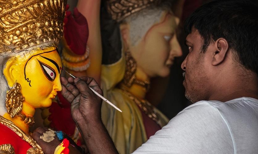 fete indienne durga - Ouest de l'Inde