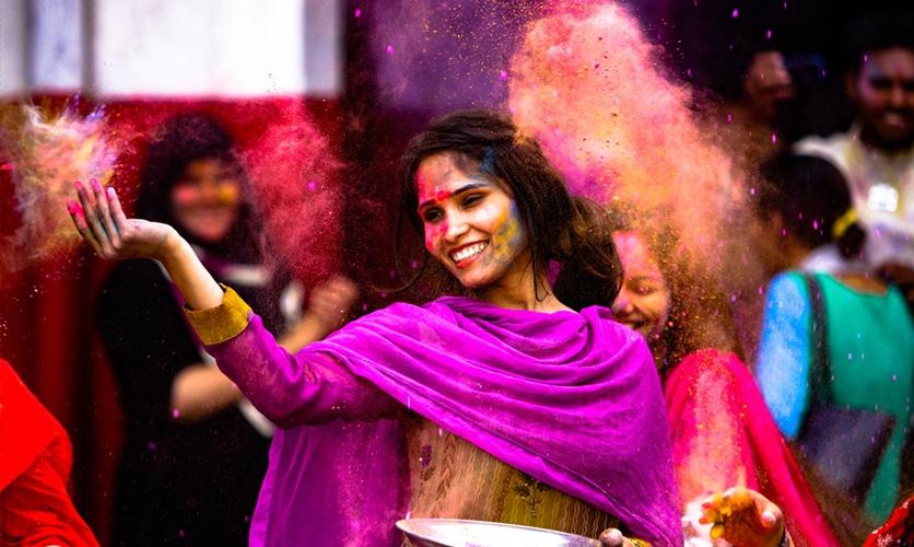 fete indienne holi - Ouest de l'Inde